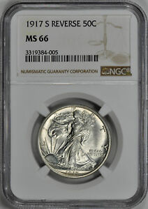 Click now to see the BUY IT NOW Price! 1917 S WALKING LIBERTY 50C NGC MS 66