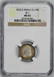 Click now to see the BUY IT NOW Price! 1823/2 CAPPED BUST 10C NGC MS 65