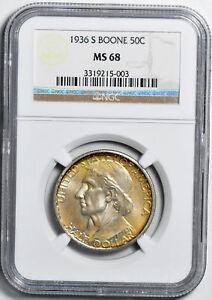 Click now to see the BUY IT NOW Price! 1936 S BOONE SILVER 50C NGC MS 68