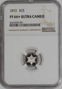 Click now to see the BUY IT NOW Price! 1872 THREE CENT 3CS PF66  ULTRA CAMEO NGC