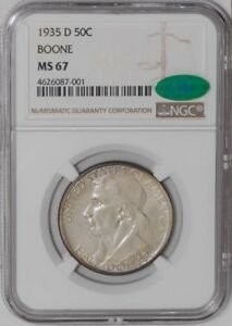 Click now to see the BUY IT NOW Price! 1935 D BOONE 50C MS67 NGC   CAC