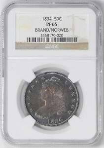 Click now to see the BUY IT NOW Price! 1834 CAPPED BUST 50C NGC PR 65