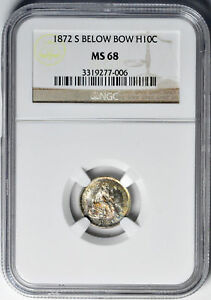 Click now to see the BUY IT NOW Price! 1872 S LIBERTY SEATED H10C NGC MS 68