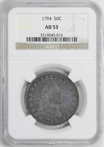 Click now to see the BUY IT NOW Price! 1794 FLOWING HAIR 50C NGC AU 53