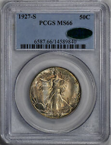 Click now to see the BUY IT NOW Price! 1927 S WALKING LIBERTY 50C PCGS MS 66