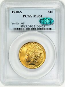 Click now to see the BUY IT NOW Price! 1930 S $10 PCGS/CAC MS64    DATE   INDIAN EAGLE   GOLD COIN    DATE