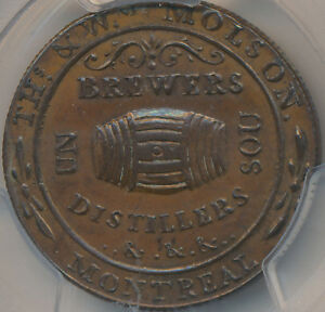Click now to see the BUY IT NOW Price! CANADA TOKEN MOLSON BRETON 562 LC 16A3   THIN FLAN REEDED   PCGS MS62BN