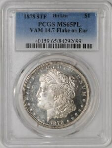 Click now to see the BUY IT NOW Price! 1878 8TF MORGAN DOLLAR $ VAM 14.7 FLAKE ON EAR MS65 PL PCGS