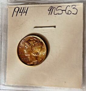 1944 MERCURY DIME SILVER 10C      TRULY AMAZING NATURAL BEAUTY     SEE PICS