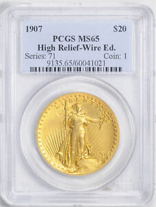 Click now to see the BUY IT NOW Price! 1907 ST. GAUDENS $20 PCGS MS 65