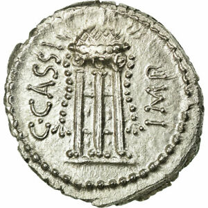 Click now to see the BUY IT NOW Price! [37715] MUNTEN CASSIA DENARIUS 42 BC GEGRADEERD NGC MS 5/5 3/5 ZILVER