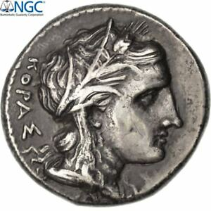 Click now to see the BUY IT NOW Price! [41582] SICILY SYRACUSE AGATHOCLES TETRADRACHM NGC CH VF 5/2 SNG ANS 676