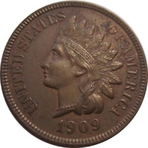 1909 1C INDIAN HEAD CENT WITH HIGH GRADE SHARPNESS AND BEAUTIFUL SURFACES
