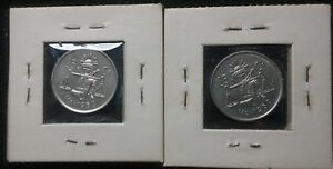 Click now to see the BUY IT NOW Price! MEXICO 25 CENTAVOS 2 SILVER COINS 1950 AND 1952 UNCIRCULATED