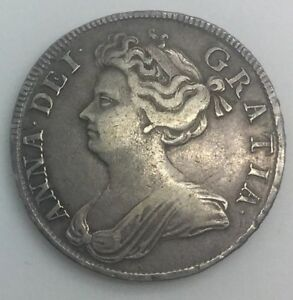 Click now to see the BUY IT NOW Price! GREAT BRITAIN 1708 PLAIN QUEEN ANNE HALF CROWN PLEASING MID GRADE