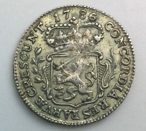 Click now to see the BUY IT NOW Price! 1786 NETHERLANDS 1/4 SILVER DUCAT  KM99  NICE GRADE COIN NO ISSUES
