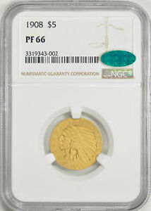 Click now to see the BUY IT NOW Price! 1908 INDIAN HEAD $5 NGC PR 66