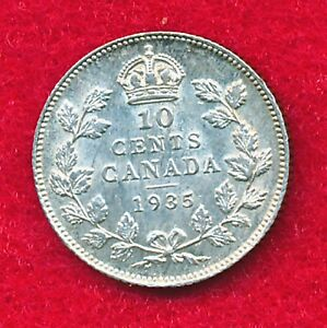 Click now to see the BUY IT NOW Price! CANADA 1935 10 CENTS  .0599 OUNCES OF SILVER
