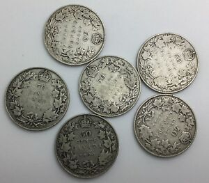 Click now to see the BUY IT NOW Price! CANADA  50 CENTS LOT OF 6 GEORGE V SILVER HALVES 1911 & 5 OTHERS STERLING PLUS
