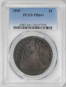 Click now to see the BUY IT NOW Price! 1846 LIBERTY SEATED S$1 PCGS PR 64
