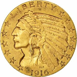 [473021] COIN UNITED STATES INDIAN HEAD $5 HALF EAGLE 1916 U.S. MINT SAN