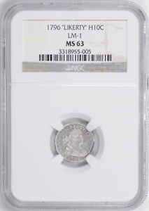 Click now to see the BUY IT NOW Price! 1796 DRAPED BUST H10C NGC MS 63