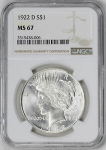 Click now to see the BUY IT NOW Price! 1922 D PEACE $1 NGC MS 67