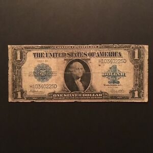 Click now to see the BUY IT NOW Price! 1923 $1 SILVER CERTIFICATE BLUE SEAL SERIAL H10340225D US LARGE SIZE NOTE