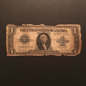 Click now to see the BUY IT NOW Price! 1923 $1 SILVER CERTIFICATE BLUE SEAL SERIAL B53333443D US LARGE SIZE NOTE