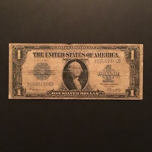 Click now to see the BUY IT NOW Price! 1923 $1 SILVER CERTIFICATE BLUE SEAL SERIAL Y69907464B US LARGE SIZE NOTE