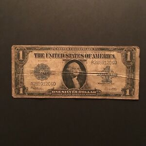 Click now to see the BUY IT NOW Price! 1923 $1 SILVER CERTIFICATE BLUE SEAL SERIAL R28591204D US LARGE SIZE NOTE