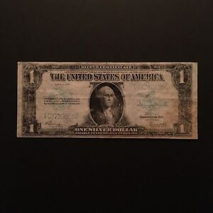 Click now to see the BUY IT NOW Price! 1923 $1 SILVER CERTIFICATE BLUE SEAL SERIAL T48782655B US LARGE SIZE NOTE
