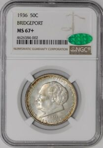 Click now to see the BUY IT NOW Price! 1936 BRIDGEPORT 50C 938545 2 MS67  NGC   CAC
