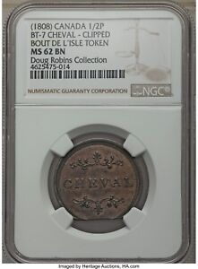 Click now to see the BUY IT NOW Price! CANADA TOKEN BOUT DE L'ILE BT 7 LACHESNAYE A MONTREAL   CHEVAL NGC MS62 BN