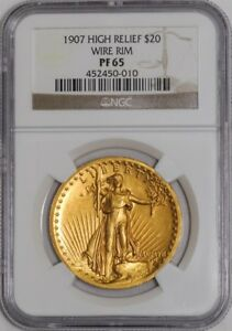 Click now to see the BUY IT NOW Price! 1907 $20 HIGH RELIEF WIRE RIM 938654 1 PR65 NGC