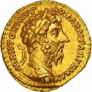 Click now to see the BUY IT NOW Price! [502037] COIN MARCUS AURELIUS AUREUS ROME GRADED NGC CH AU GOLD RIC:190