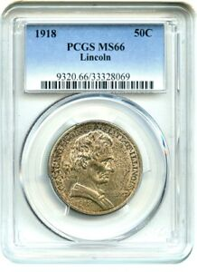 Click now to see the BUY IT NOW Price! 1918 LINCOLN ILLINOIS 50C PCGS MS66   SILVER CLASSIC COMMEMORATIVE