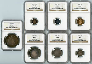 Click now to see the BUY IT NOW Price! 1859 PROOF SET NGC PR RAW
