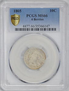 Click now to see the BUY IT NOW Price! 1805 DRAPED BUST 10C PCGS MS 66
