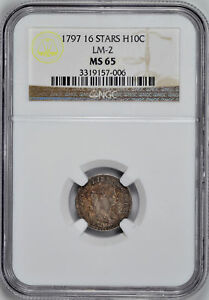 Click now to see the BUY IT NOW Price! 1797 DRAPED BUST H10C NGC MS 65