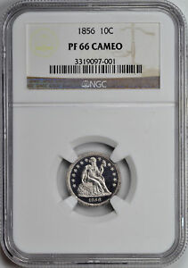 Click now to see the BUY IT NOW Price! 1856 LIBERTY SEATED 10C NGC PR 66 CAM