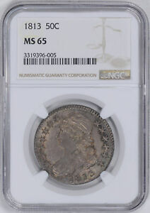 Click now to see the BUY IT NOW Price! 1813 CAPPED BUST 50C NGC MS 65