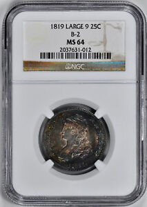 Click now to see the BUY IT NOW Price! 1819 CAPPED BUST 25C NGC MS 64