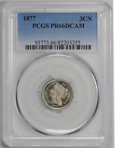 Click now to see the BUY IT NOW Price! 1877 NICKEL 3CN PCGS PR 66 DCAM