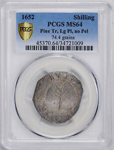 Click now to see the BUY IT NOW Price! 1652 PINE TREE SHILLING PCGS MS 64