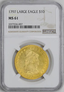 Click now to see the BUY IT NOW Price! 1797 DRAPED BUST $10 NGC MS 61