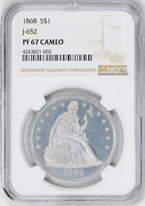 Click now to see the BUY IT NOW Price! 1868 LIBERTY SEATED S$1 J 652 NGC PR 67 CAM