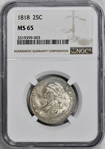 Click now to see the BUY IT NOW Price! 1818 CAPPED BUST 25C NGC MS 65