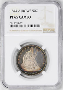 Click now to see the BUY IT NOW Price! 1874 LIBERTY SEATED 50C NGC PR 65 CAM