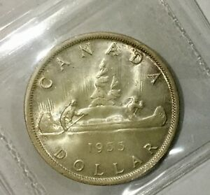 Click now to see the BUY IT NOW Price! CANADA 1955  ELIZABETH II ICCS  MS64 NICE ORIGINAL COIN